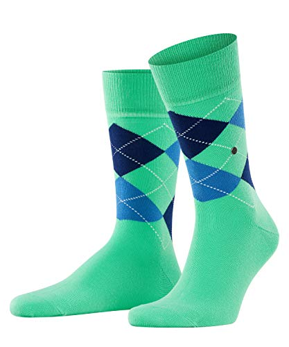 Burlington Herren Socken King, Baumwolle, 1 Paar, Grün (Jade Cream 7185), 40-46 (UK 6.5-11 Ι US 7.5-12)