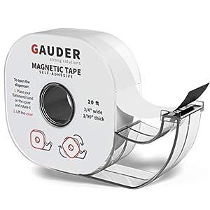 GAUDER Magnetic Tape Dispenser   Thin Magnet Strips Self Adhesive   Magnet Roll