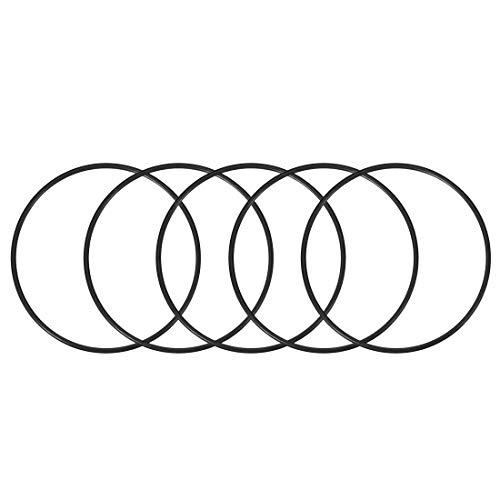 DealMux Juntas tóricas de caucho de nitrilo, 137 mm de diámetro interior, 145 mm de diámetro exterior, 4 mm de ancho, paquete de juntas de sello redondo de 10