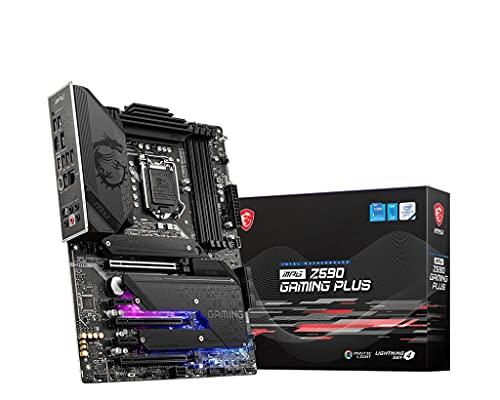 MSI MPG Z590 GAMING PLUS Scheda Madre ATX - Supporta processori Intel Core 11th Gen, LGA 1200 - Mystic Light, 14 Duet Rail 75A VRM, DDR4 Boost (5333MHz/OC), PCIe 4.0 x16, M.2 Gen4/3 x4, 2.5G LAN