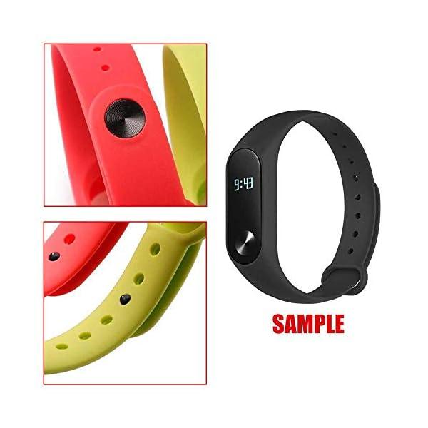 OcioDual Correa de Recambio Negra para Xiaomi Mi Smart Band 2 Smartwatch Bracalete Ajustable Reloj Pulsera Silicona… 3