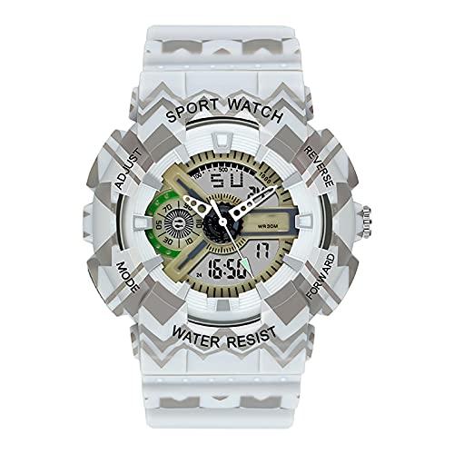 WTYU Reloj Deportivo al Aire Libre, Reloj de Pulsera multifunción multifunción de 30m a Prueba de Agua, Movimiento electrónico Hombres B