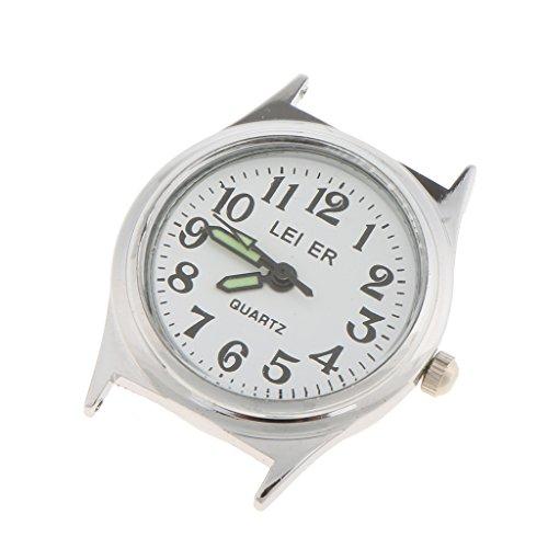 B Baosity Mujeres Hombres LEIER 2035 Movimiento Pantalla Analógica Cabeza de Reloj de Plata de Cuarzo Japonés - 14x25mm