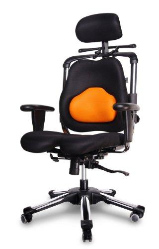 HARASTUHL® Druckentlastung der Bandscheiben und verbesserte Gesäß Durchblutung. Modell: Zen-LS (Orange)