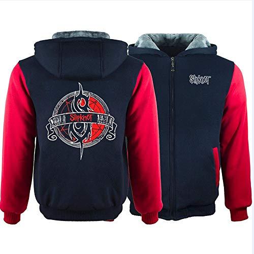 Herren Kapuzenpullover Band Slipknot Print Sweater Plus Velvet Rock Memorial Jacken Cardigan warme Top 1-XXL