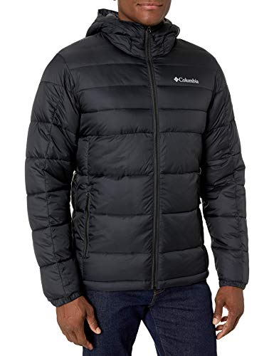 Columbia Men's Buck Butte Insulated Hooded Jacket, Black , Small