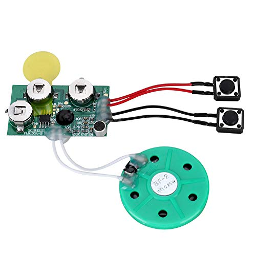 DIY Greeting Card Chip 120 Seconds Recordable Voice Sound Chip Module Built-in Button Battery for Gift Boxes, Invitations, Handmade Products