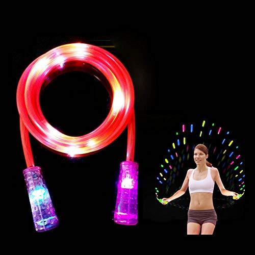 Blinkendes LED-Springseil, 2-in-1, Fitness-Springseil, leuchtet im Dunkeln, blinkendes Geschenk für Kinder und Erwachsene, zufällige Farbe