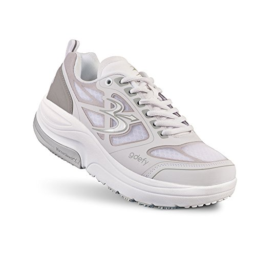 Gravity Defyer Men's G-Defy Ion Pain Relief Walking Shoes 13 M Shoes for Plantar Fasciitis Shoes for Heel Pain White