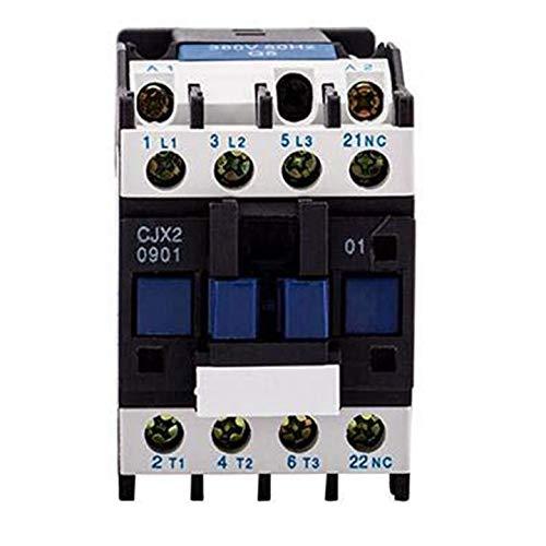 ETial CJX2-0901-DC 12V 50Hz Distribución bobina eléctrica DC Contactor Motor Arrancador relé...