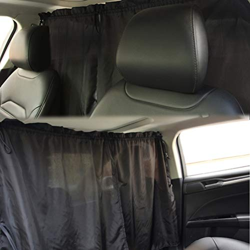 ZATOOTO Car Divider Curtains Sun Shade - Windshield Sunshade Side Window Sunshade Travel Privacy Sunshade Removable Simple Curtain