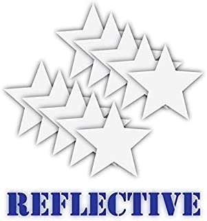 10 3M Reflective Stars | Bike, Helmet, Lunch Box, Tool Box Decal Sticker | High Visibility at Night | Highly Reflective | 2