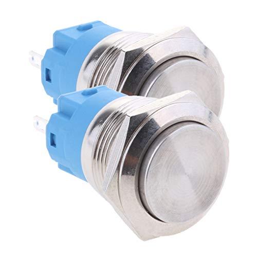 Desconocido Generic Paquete de 2 Interruptores de Luz LED con Interruptor de Botón Momentáneo con Interruptor de Palanca