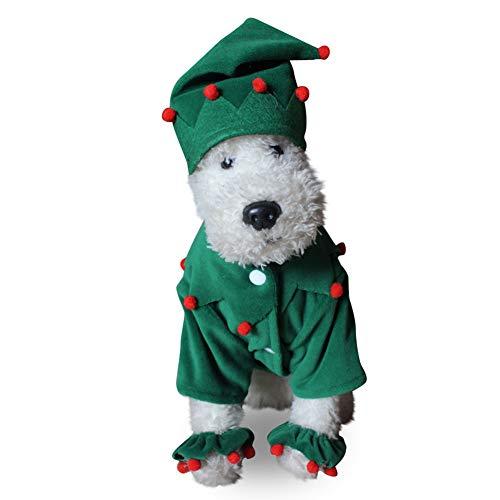Proumhang Disfraz de Mascota Disfraz para Perro o Gato Navideño Halloween-S
