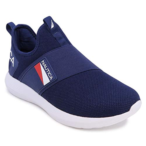 Nautica Men's Casual Fashion Sneakers-Walking Shoes-Lightweight Joggers-Steeper 4-Navy-8