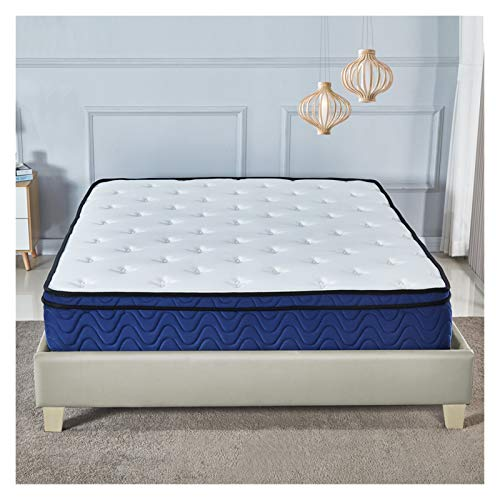 Double Memory Foam and Sprung Mattress 10Inch, Mattress with Advanced Ventilated Mesh Side Cover, firm mattress support.perfectly contour your body (Size : 90 * 191CM)