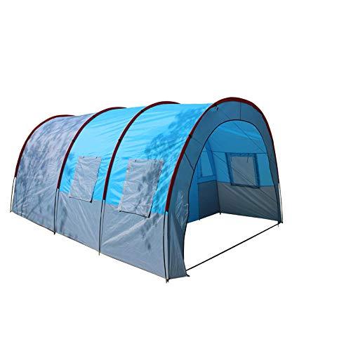 YFFSBBGSDK Camping Zelt Camping Zelt Wasserdicht Leinwand Fiberglas, Familie Tunnel Zelt Ausrüstung Outdoor Climbing Party