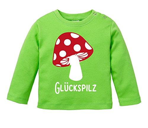 Angry Shirts Glückspilz - Bio Baby Longssleeve