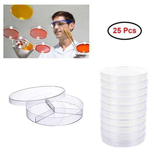 Xkfgcm 25 Piezas Placa de Petri desechable Platos de Petri