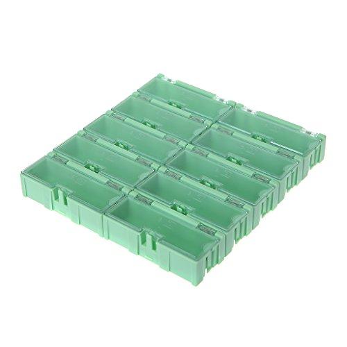 DUESI Caja electrónica Mini SMD SMT Caja de Almacenamiento de componentes electrónicos IC 75x31.5x21.5mm