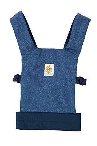 Ergobaby Doll Carrier Mochila Portamuñecas de Juguete para Niños Pequeños, Porta Muñecas 100% Algodón, Blue Blooms