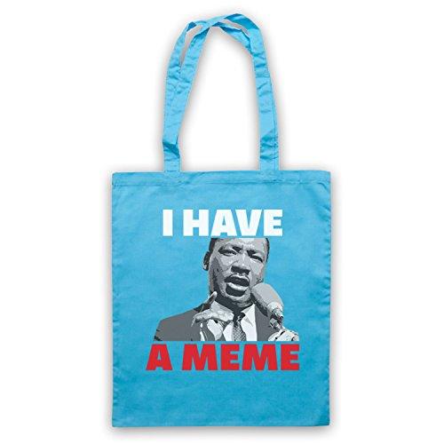 I Have A Meme Martin Luther King Umhangetaschen, Hellblau