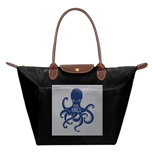 Octopus gratis knuffels waterdichte lederen gevouwen Messenger nylon tas Reizen Tote Hopping Folding School handtassen