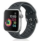 Vodtian - Correa deportiva compatible con Apple Watch Strap 38 mm 40 mm, suave y transpirable silicona de repuesto compatible con iWatch Series 6/5/4/3/2/1 para mujeres hombres