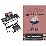 Rockjam Kit De 61 Teclado De Piano Digital, Banco Soporte De Teclado, Auriculares, Pedal De Sostenido Y Simplemente Aplicación De Piano + Toca El Piano: Interpreta A Bach En Seis Semanas