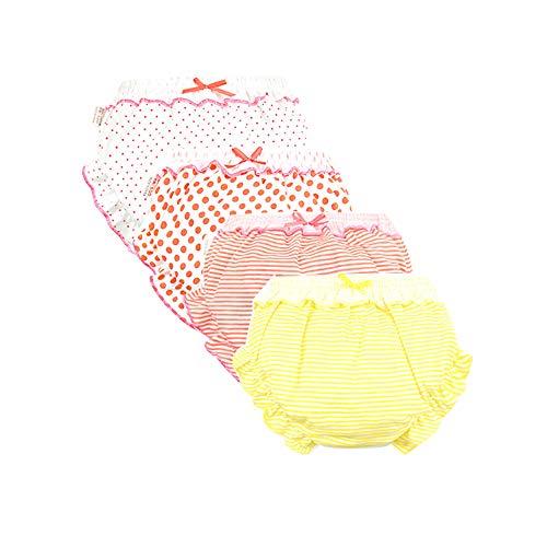 Baby Girls Bloomers Newborn Infant Toddler Kids Cotton Ruffle Bow Diaper Covers Briefs Underwear Set 0-4T