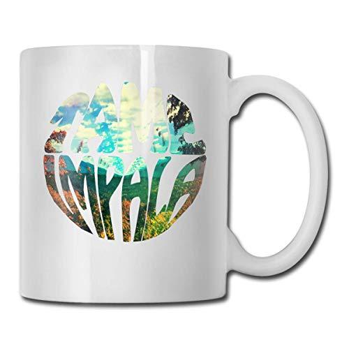 N\A Tame Impala Mug Taza de café Taza de té Tazas de Vino Novedad Taza Divertida Tazas de cerámica Blanca Taza Grande con asa en C Taza de impresión a Doble Cara