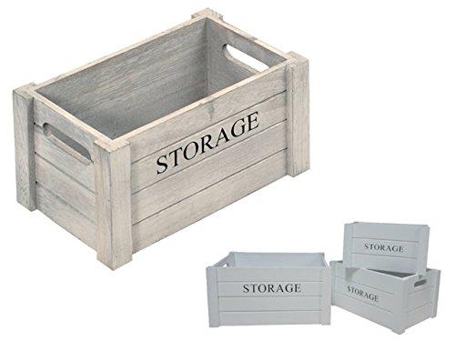Kesper Aufbewahrungsbox Antik 30,5x20,5x16cm aus Paulowniaholz, braun, 30.5 x 20.5 x 16 cm
