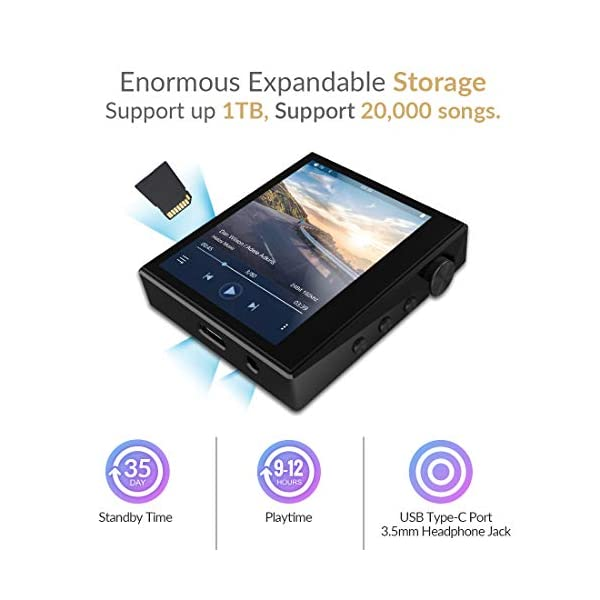 Ultraportable HiFi Music Player Bluetooth MP3 Player High Resolution Audio Player 6