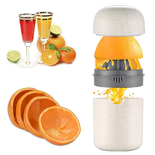Hand Juicer Press Citrus Juicer Hand Squeezer juicer Manual Orange Juicers AntiSlip Reamer with Strainer and Container with Orange Peeler and Brush for Home Office