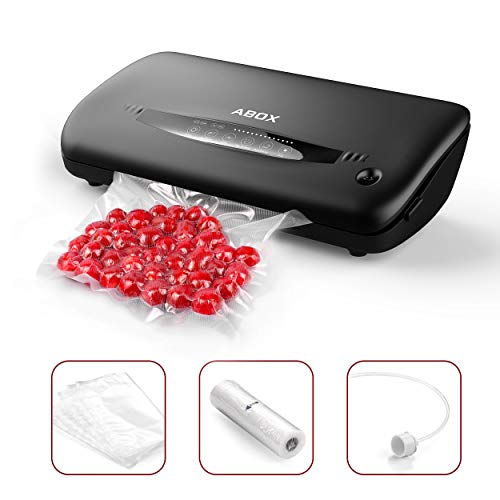 Vacuum Sealer Machine, ABOX Automatic Food Vacuum Sealer,with Roll and Bags Starter Kit,Commercial Use