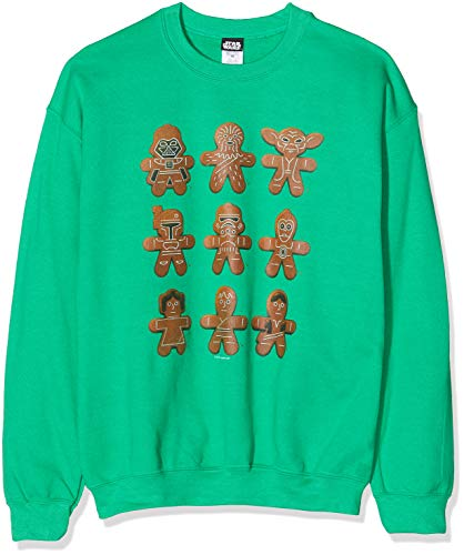 Star Wars Men's Christmas Gingerbread Characters Sweatshirt
