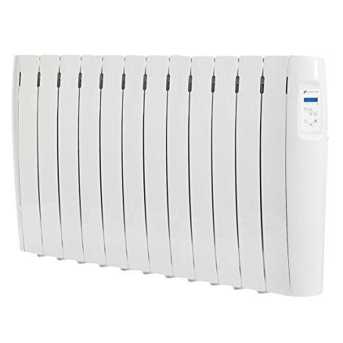 Haverland RC12M - Radiador Digital Fluido Bajo Consumo, 1500 de Potencia, 12 Elementos, Programable, Exclusivo Indicador De Consumo, Pantalla Temperatura Ambiente