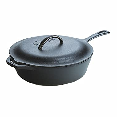 Lodge L10CF3 5Qt Deep Skillet, 5-Qt, Black