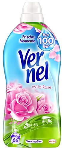 Vernel Wild-Rose, Weichspüler, 396 (6 x 66) Waschladungen, für einen langanhaltenden Duft