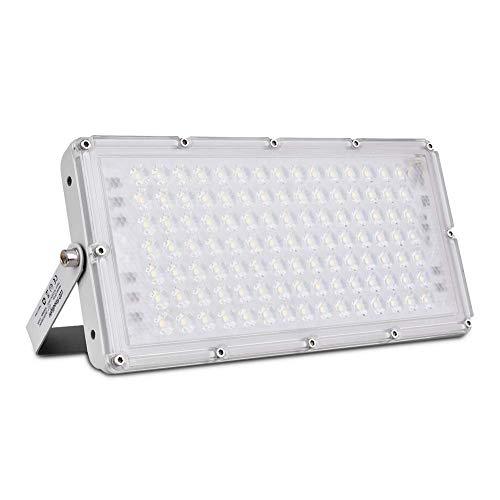 Sararoom 100W Proyector LED Exterior, 10000LM Focos LED Exterior, IP66 Impermeable Focos Proyector LED, 6500K Blanco frío Led Floodlight, Reflector LED para jardín garaje Terrazas fábrica