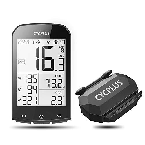CYCPLUS M1 GPS Bike Computer 2.9 Inch LCD Display Bicycle Speedometer and Odometer and C3 Speed/Cadence Sensor