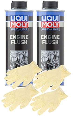 Liqui-Moly Pro-Line Engine Flush (500 ML) Bundle with Latex Gloves (6 Items)