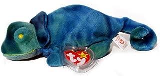 Ty Beanie Babies - Iggy The Ty-Dye Iguana - Rainbow Tags
