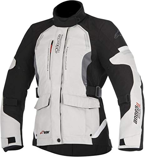 Alpinestars Chaqueta moto Stella Andes V2 Drystar Jacket Light Gray Black Dark Gray, Negro/Gris, XL