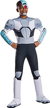 Rubie s Boys Teen Titans Go Movie Deluxe Cyborg Costume Small