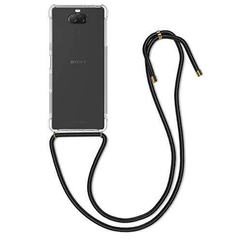 kwmobile Hülle kompatibel mit Sony Xperia 10 - mit Kordel zum Umhängen - Silikon Handy Schutzhülle Transparent