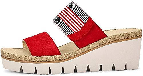 Gabor Shoes Gabor Casual, Mules Femme, Rouge (Flame/Marine-K. 15), 44 EU