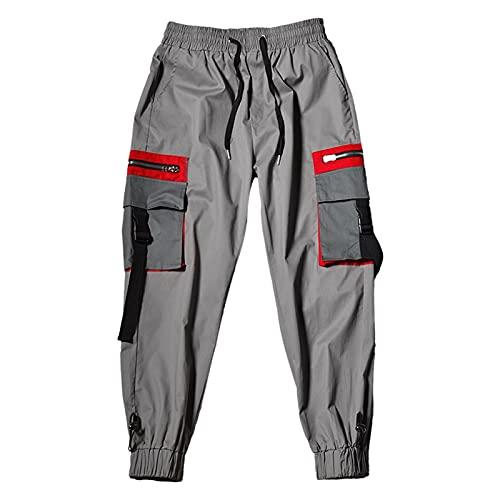 Pantalones de hip hop callejeros masculinos pantal Pantalones de carga de múltiples bolsillos for hombre Militar Tactical Tactical Pantalón Hombre Entrenamiento Pantalón Pantalones casuales