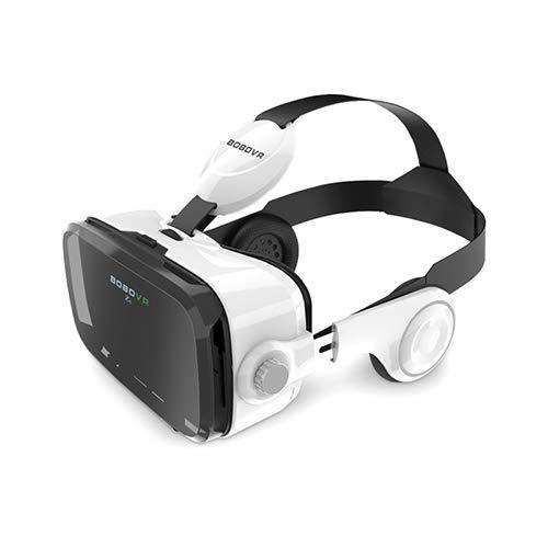 VR Equipos, Equipos de AR, Gafas 3D CTJ BOBOVR Z4 3D de cartón Casco de Realidad Virtual VR Vasos Auriculares estéreo Caja for el teléfono móvil (Blanco) (Color : Blanco)