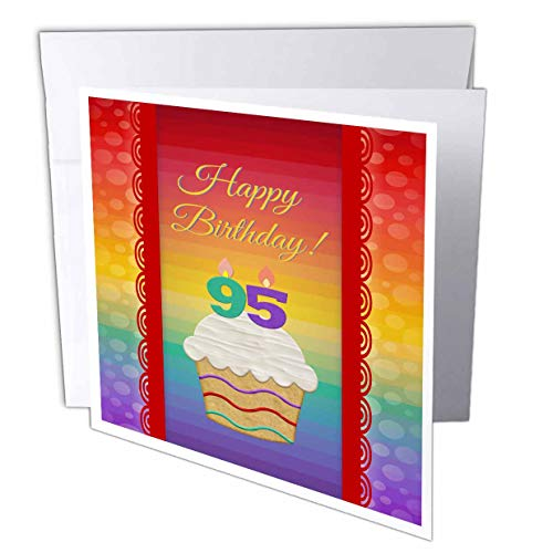 Cupcake with Number 95 Candles Birthday Card